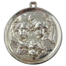 1991 Sterling Silver Baroque Angels Christmas Ornament by GORHAM