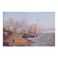 Vintage Oil Painting - Seascape