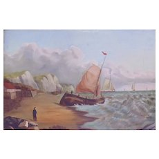 Vintage Oil Painting - Seascape