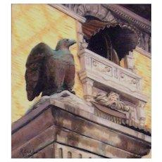 "Original Miniature Oil Painting ""Sentinel"" by Rita Earles"