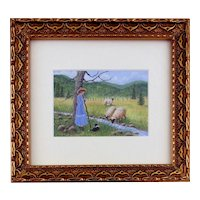 Original Miniature Watercolor Painting by Ellen Strope