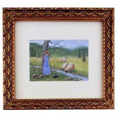 Original Miniature Watercolor Painting by Ellen Strope