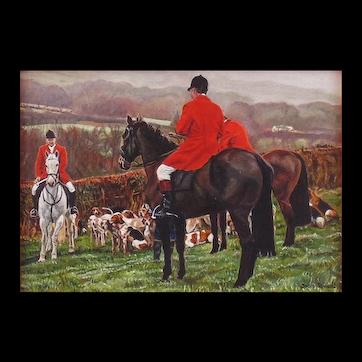 Original  Miniature Oil on Silk Painting by UK Artist, Joyce Rowsell