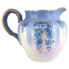 Forget-Me-Not Porcelain Pitcher by Margaret Surber