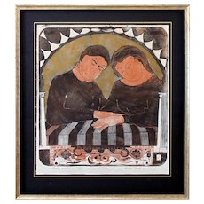 """Two"" An Original Wood Cut by Stephen White-Listed Artist"