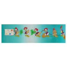 """Donald Duck"" Production Animation Cels by Walt Disney Studios"