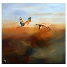 """""""High Flyers"""" Original Oil Painting by Lee Mims"""