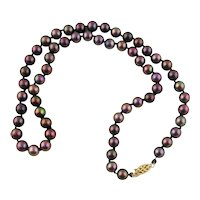"""Lady's Cultured Akoya Pearl Necklace-19"""" Long"""