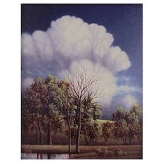 """Original Oil Painting """"Summer Cloud"""" by Clifford Bailey"""