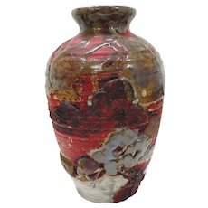 Japanese 19/20TH C Sumida Gawa Vase With Man in a Boat