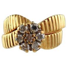 Diamond Engagement Ring Set, 14kt Yellow Gold -Size 7 1/2