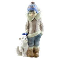 LLadro-Boy With A Polar Bear Cub