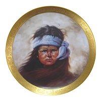"""Apache Boy"" Collectors Plate by Gregory Perillo"