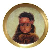 """Navajo Girl"" Collectors Plate by Gregory Perillo"