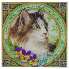 Miniature Painting by Debby Faulkner-Stevens-Cats Are Absolute Individuals