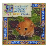 "Miniature Painting by Debby Faulkner-Stevens-""Sing A Song of Seasons"""