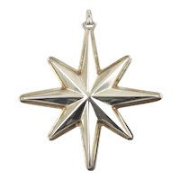 1976 Sterling Silver Christmas Star Ornament-Reed & Barton