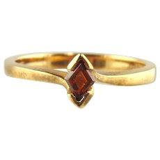 Fancy Cognac Diamond Ring 18kt Yellow Gold - Size 6 3/4