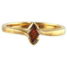 Fancy Cognac Diamond Ring 18kt Yellow Gold - Size 6 3/4