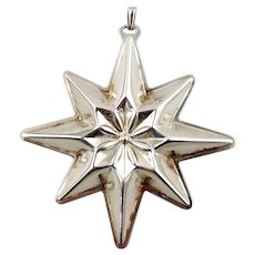 1977 Sterling Silver Christmas Star Ornament-Reed & Barton