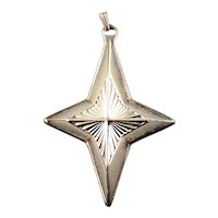 1980  Silver Plated Christmas Star Ornament-Reed & Barton