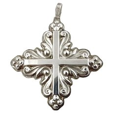 1983 Sterling Silver Christmas Cross Ornament-Reed & Barton