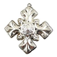 1976 Sterling Silver Christmas Cross Ornament-Reed & Barton