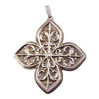 1984 Sterling Silver Christmas Cross Ornament-Reed & Barton