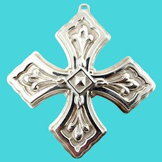 1981 Sterling Silver Christmas Cross Ornament-Reed & Barton