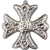 1975 Sterling Silver Christmas Cross Ornament-Reed & Barton