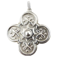 1986 Sterling Silver Christmas Cross Ornament-Reed & Barton