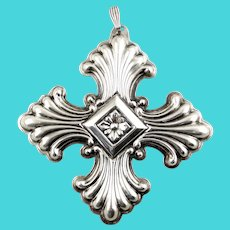 1973 Sterling Silver Christmas Cross Ornament-Reed & Barton