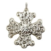 1974 Sterling Silver Christmas Cross Ornament - Reed & Barton