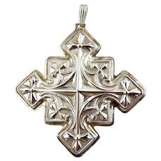 1979 Sterling Silver Christmas Cross Ornament-Reed & Barton