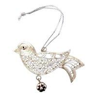 Sterling Silver Filigree Bird Ornament-MMA