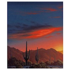 """Original Oil Painting by Clifford Bailey, """"High Sonora"""""""