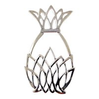 Hand & Hammer Sterling Silver Christmas Ornament-Pineapple