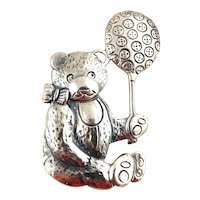 Hand & Hammer Sterling Silver Christmas Ornament-Teddy Bear