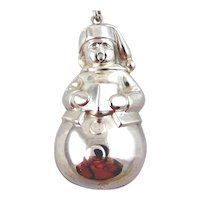 1972 RM Trush Sterling Silver Snowman Caroler Ornament