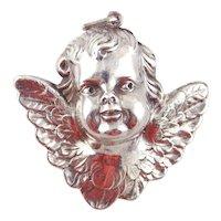 RM Trush Sterling Silver Ornament - Cherub Angel Head
