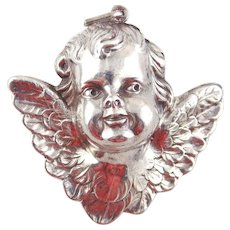 RM Trush Sterling Silver Ornament - Cherub Angel Head