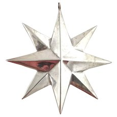 RM Trush Sterling Silver Ornament - Double Star