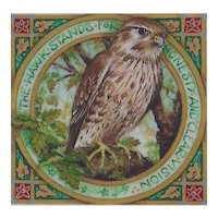 "Miniature Painting by Debby Faulkner-Stevens , ""The Hawk Stands For Honesty (Merlin)"""