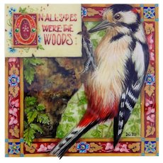 "Miniature Painting by Debby Faulkner-Stevens, ""On All Sides Were the Woods"""