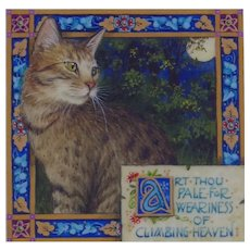 "Miniature Painting by Debby Faulkner-Stevens, ""Art Thou Pale....."""