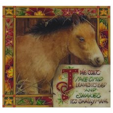 "Miniature Painting by Debby Faulkner-Stevens, ""The Timid Colt..."""