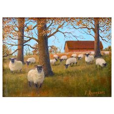 "Miniature Oil Painting by Contemporary Artist, James A. Andrews- ""Halt! Who Goes There?"""