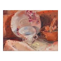 Original Oil Painting by Contemporary Listed Artist,  Gregory Kavalec-Still Life