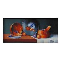 "Miniature Oil Painting by Missouri Artist, Gail MacArgel-""Copper Glow"""
