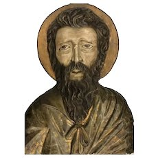 19th/20th C Wood Carving-Religious Man